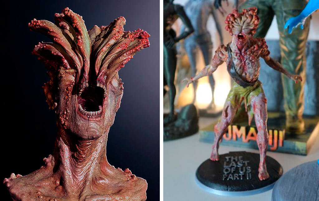 Last of Us Clicker statue and 3D model bust