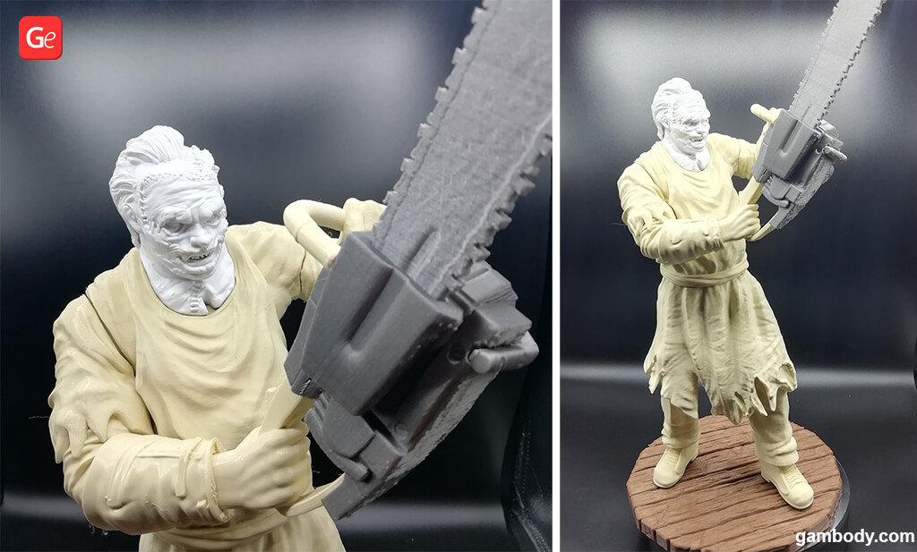 Leatherface figurine for 3D printing