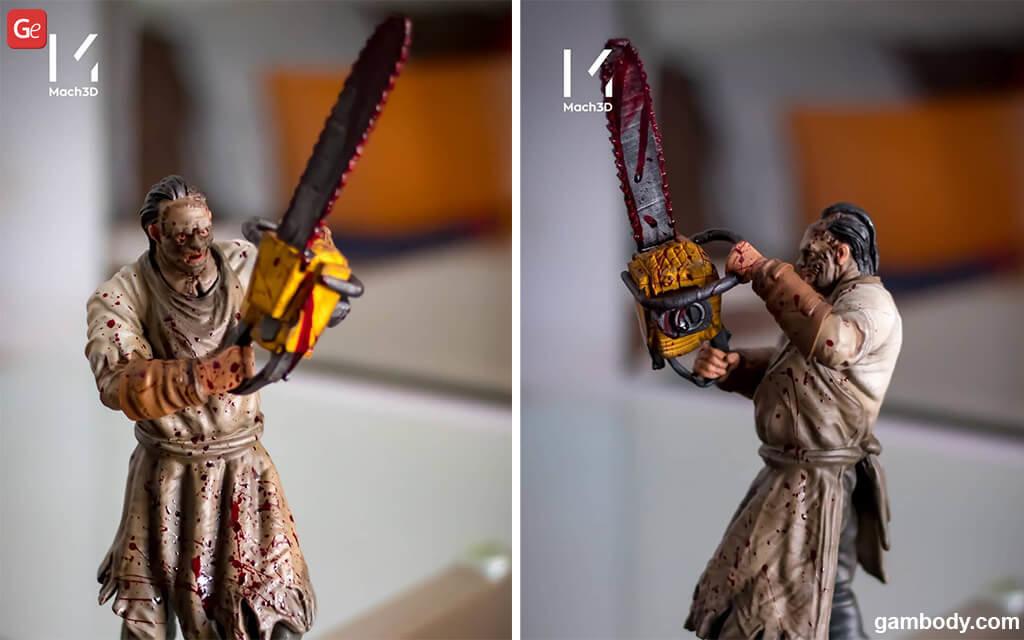 Leatherface figurine 3D printed
