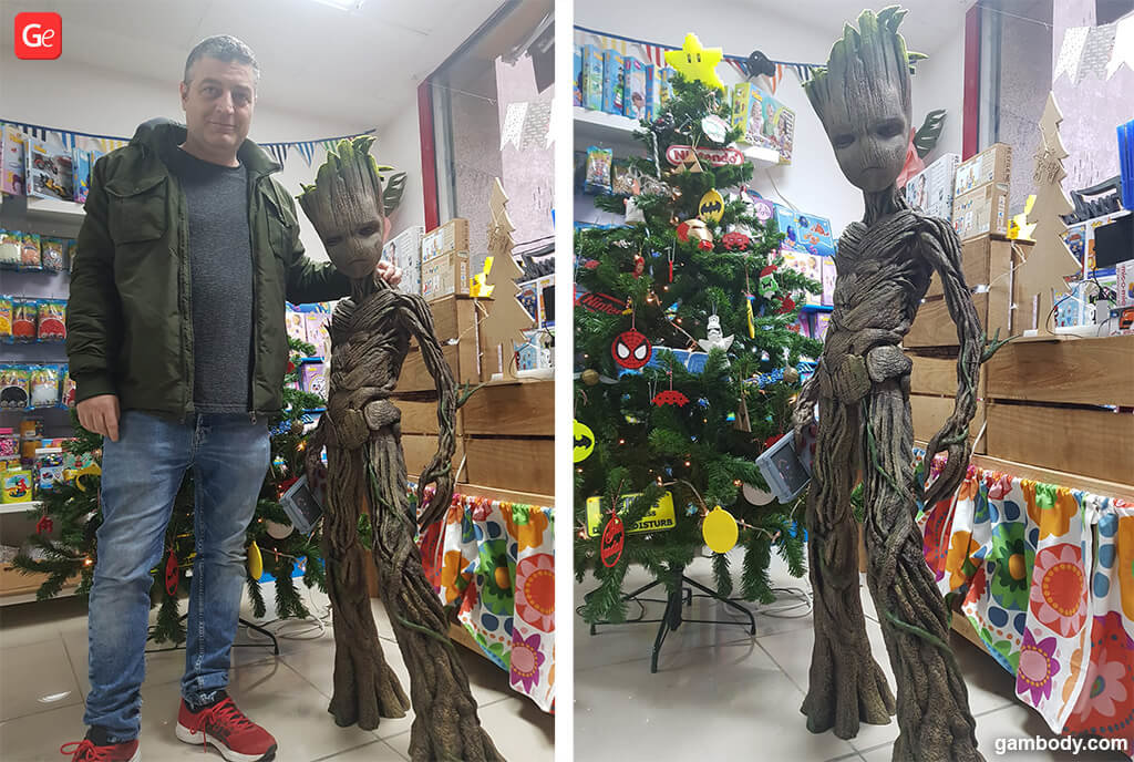 Life-size Groot 3D model for 3D printing