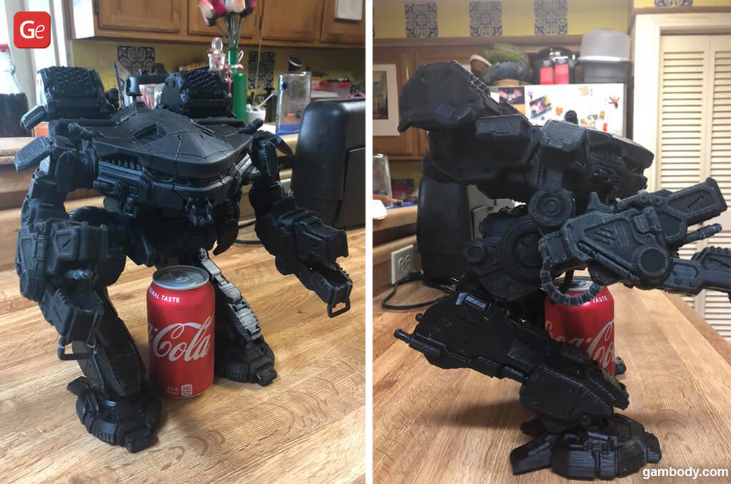 MechWarrior King Crab model for 3D printing