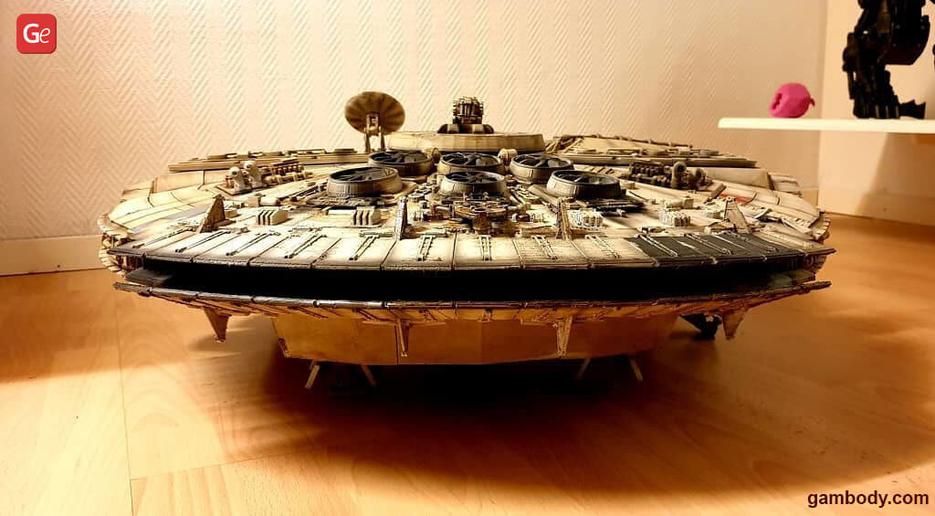 Top Star Wars 3D printed models Millennium Falcon ship