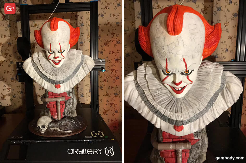 Pennywise the Clown bust for 3D printing