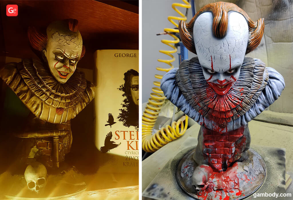 Pennywise 3D printable bust