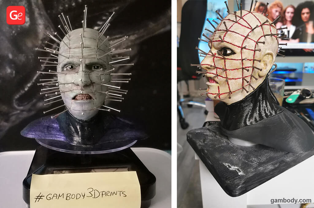 Pinhead bust for 3D printing