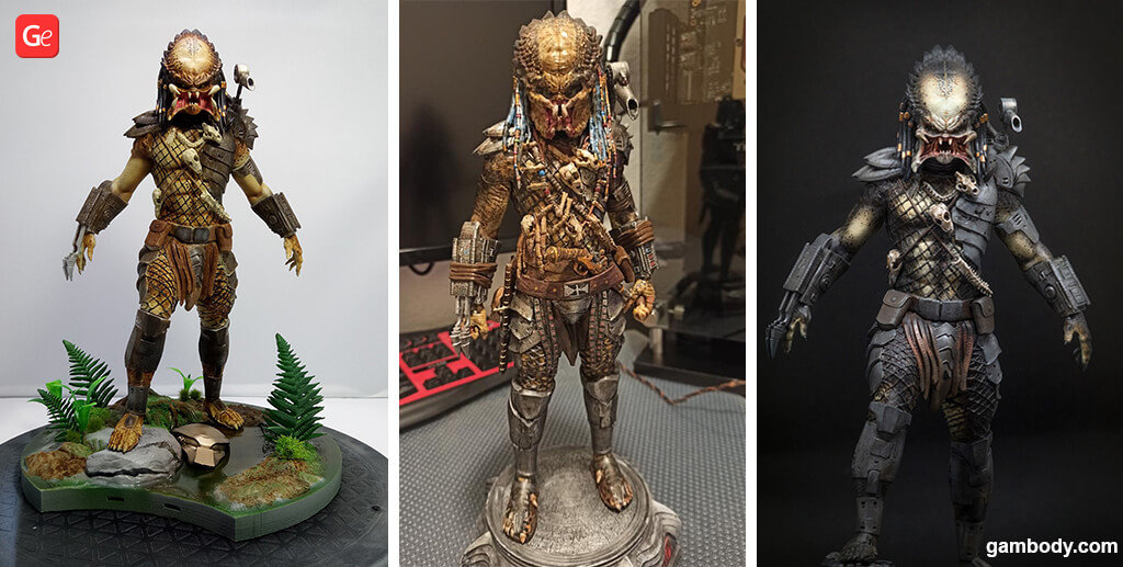 Predator figurine for 3D printing