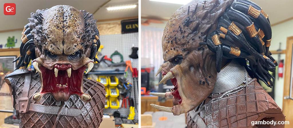 Predator head Halloween 3D prints