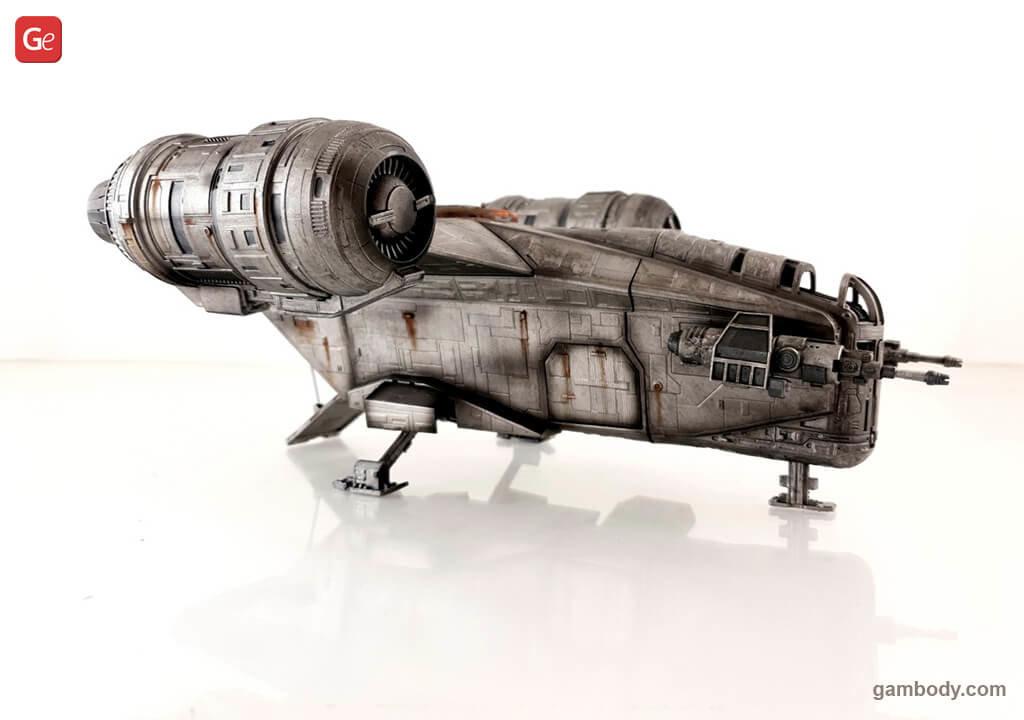 Razor Crest 3D printed model Mandalorian Star Wars