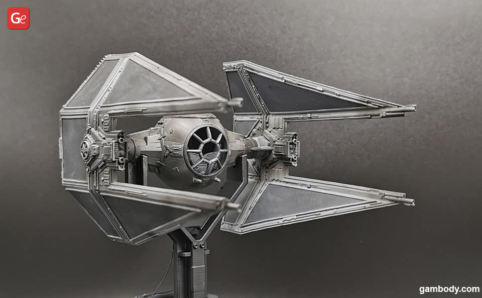 Star Wars TIE Interceptor model for 3D printing