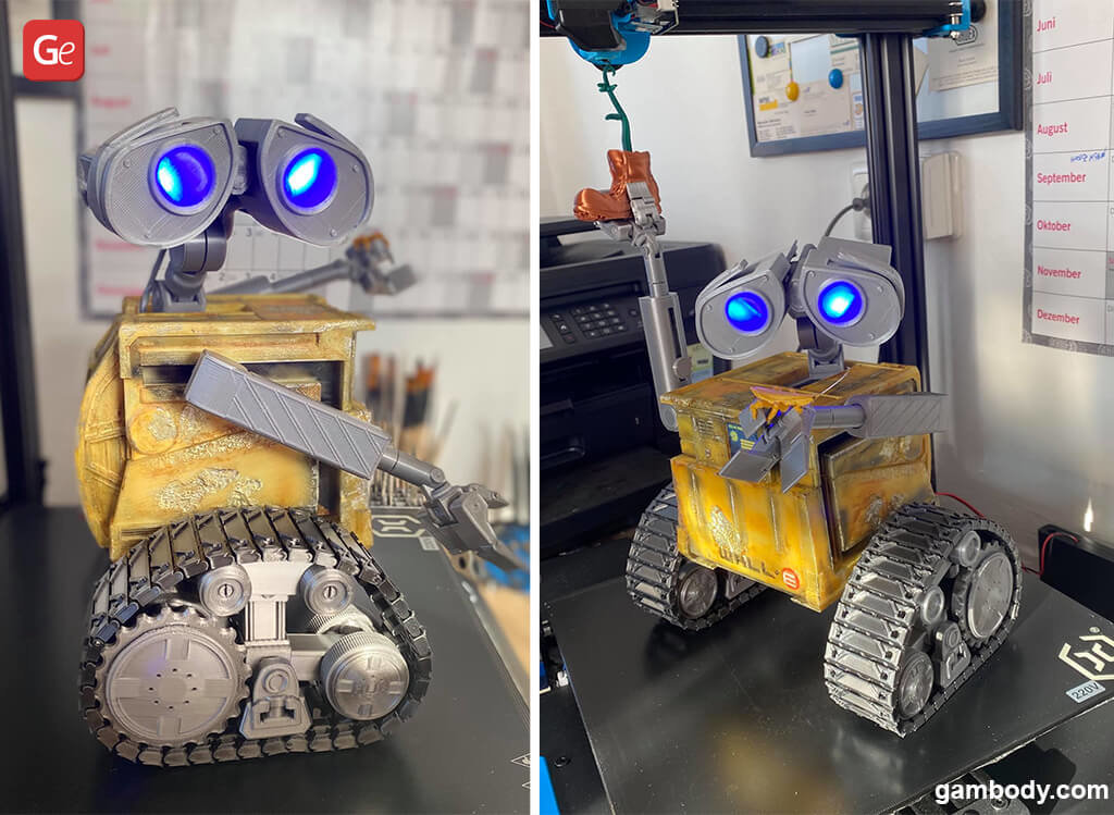WALL-E robot for 3D printing