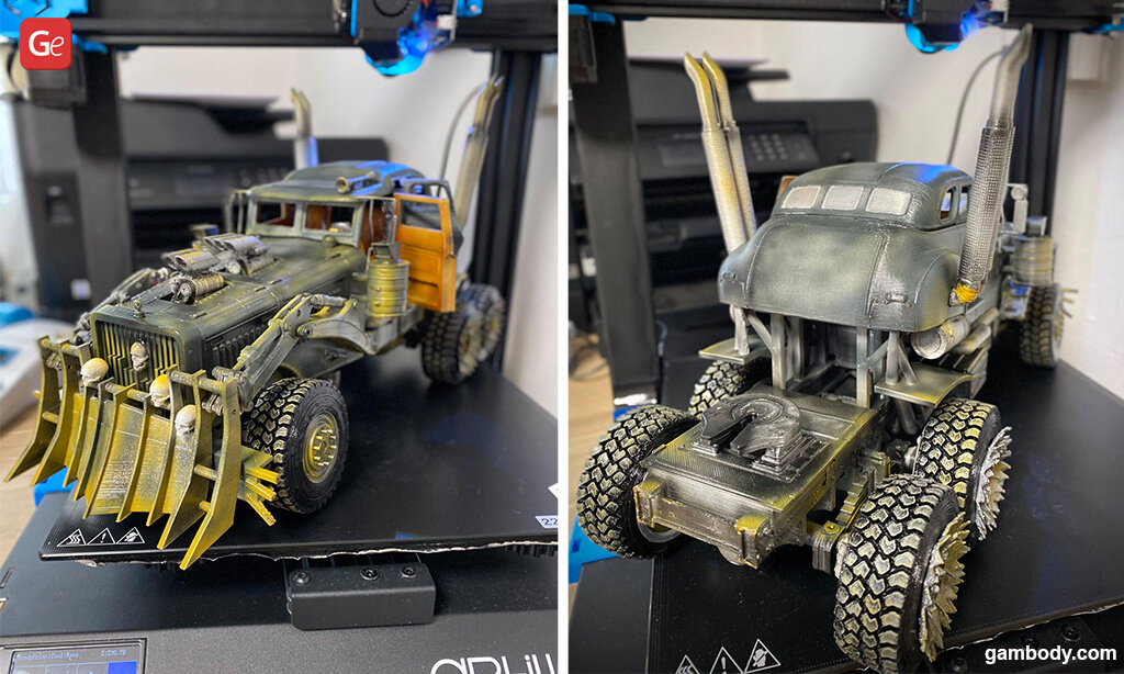 Mad Max War Rig truck for 3D printing