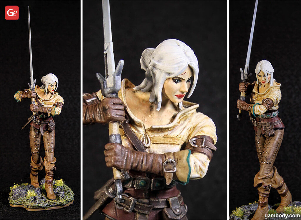 Witcher Ciri figure for 3D printing