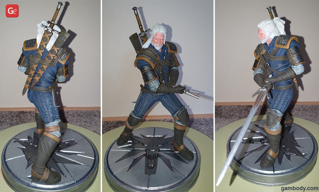 Witcher figurine Geralt fun things to 3D print