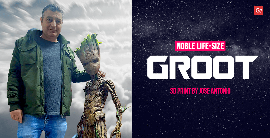 Groot 3D print in life-size