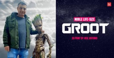 Noble Life-Size Groot 3D Print by Jose Antonio