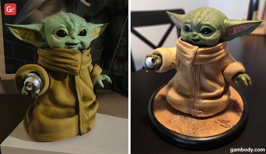 Baby Yoda best models with STL files for 3D printing