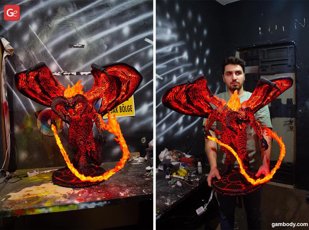 Balrog 3D printed demon monster