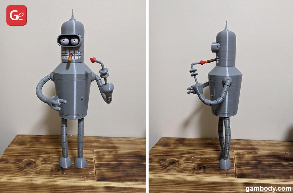Bender Futurama 3D printed robot
