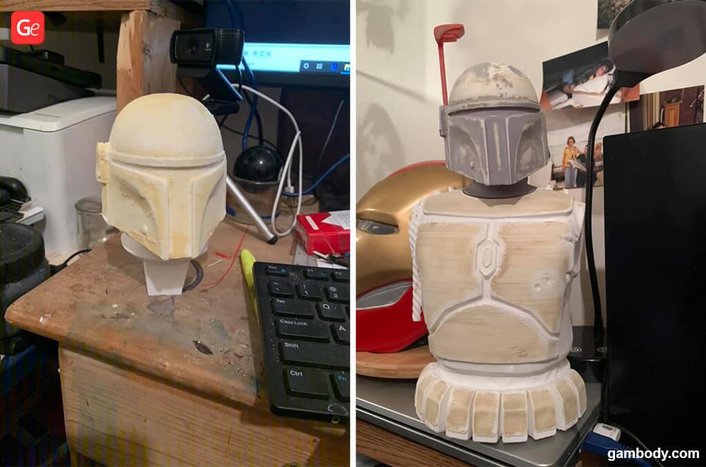 Boba Fett helmet 3D printing