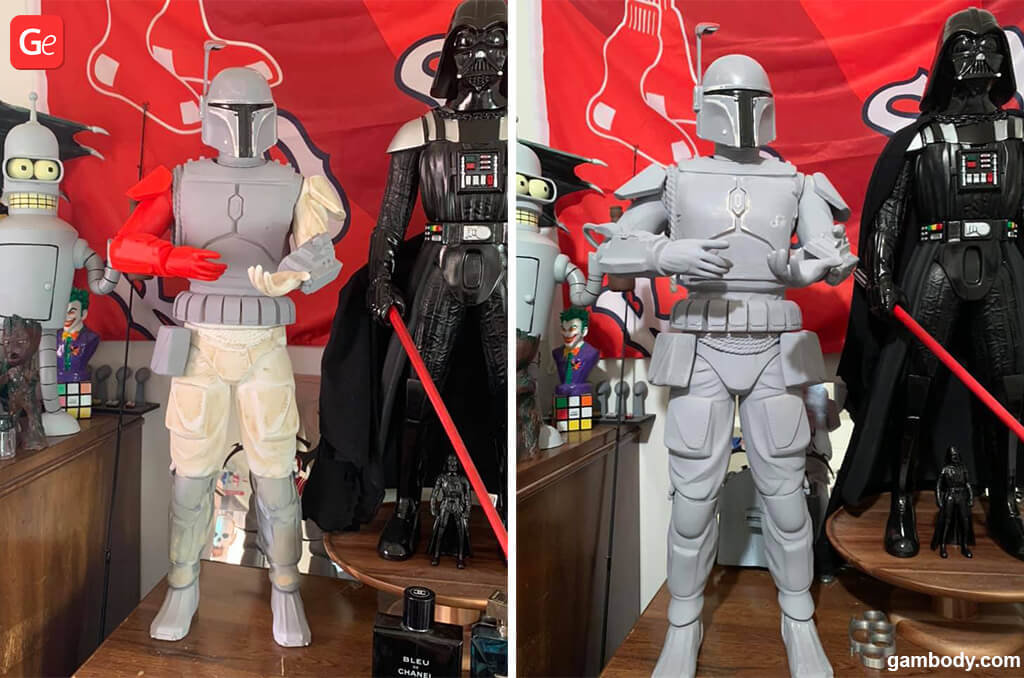 Star Wars Boba Fett models for 3D printing