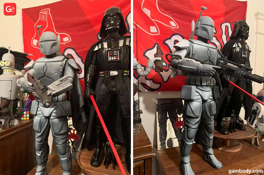 3D printing Star Wars models Boba Fett and Darth Vader