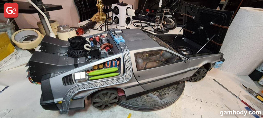 DeLorean time machine 3D printed vehicle