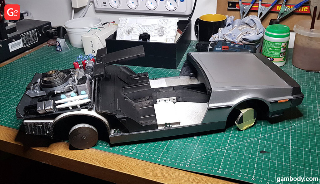 Back to the Future DeLorean car model for 3D printing