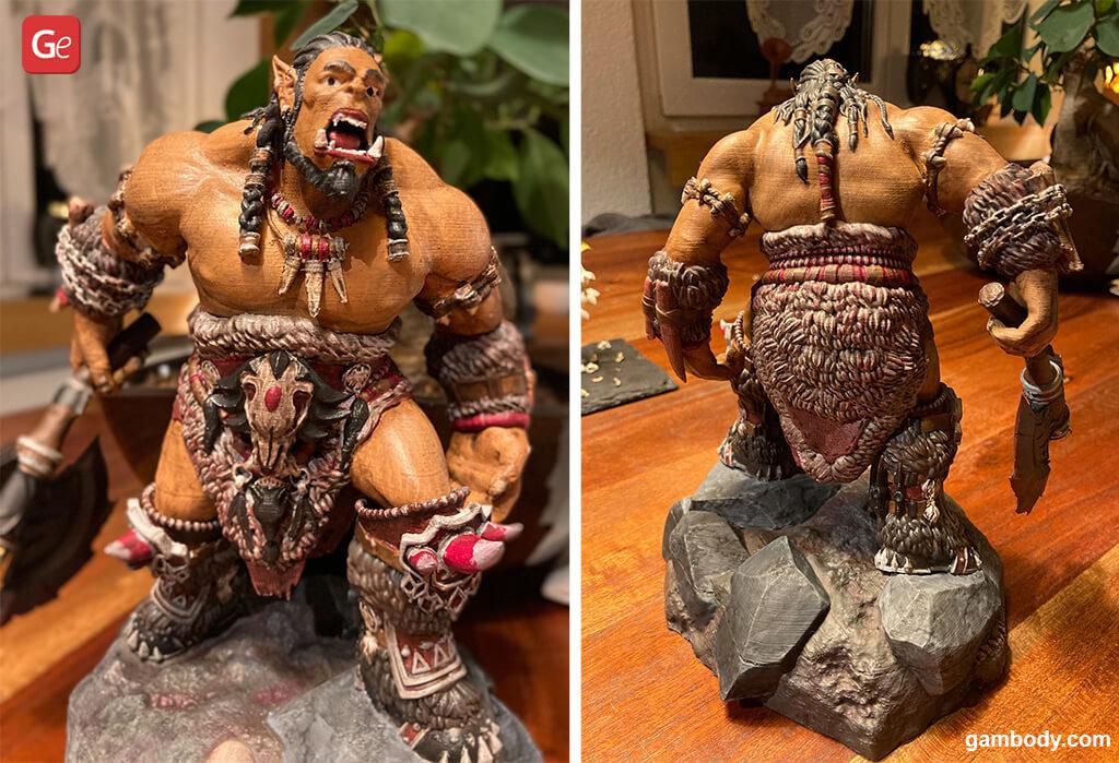 3D prints of Durotan WoW figurine