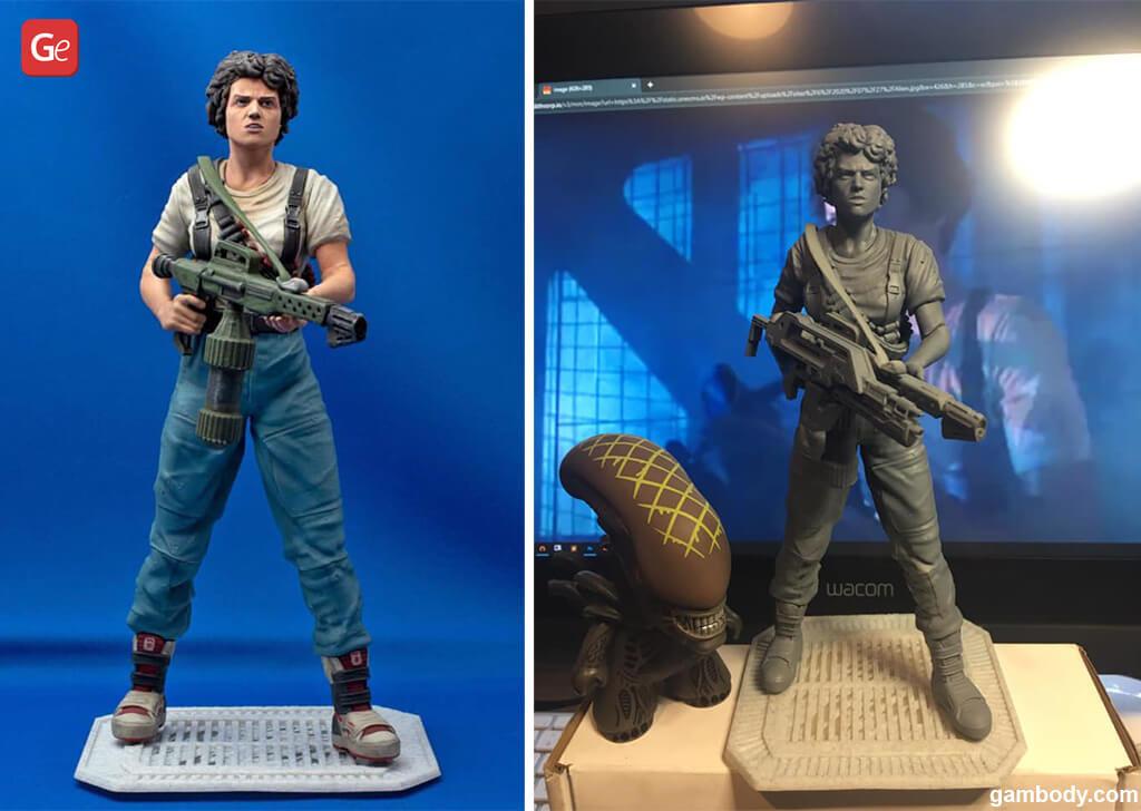 Ellen Ripley figurine best 3D prints