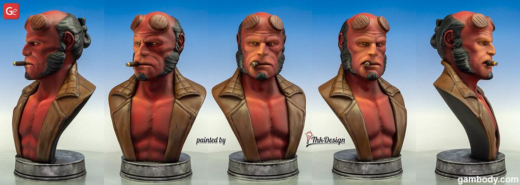 3D printed Hellboy bust best 3D prints 2020