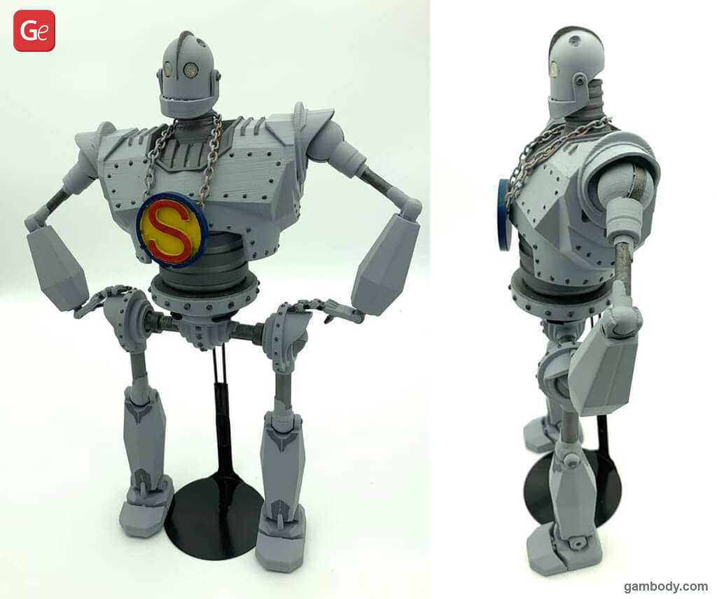 The Iron Giant 3D printed robots