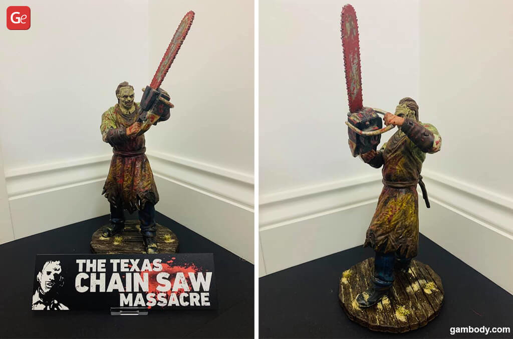 Leatherface 3D printed human monsters