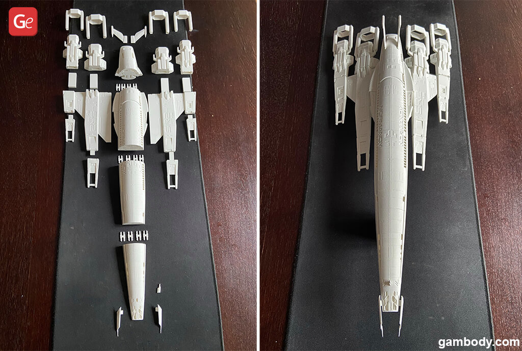 Normandy SR-2 starship model for 3D printing