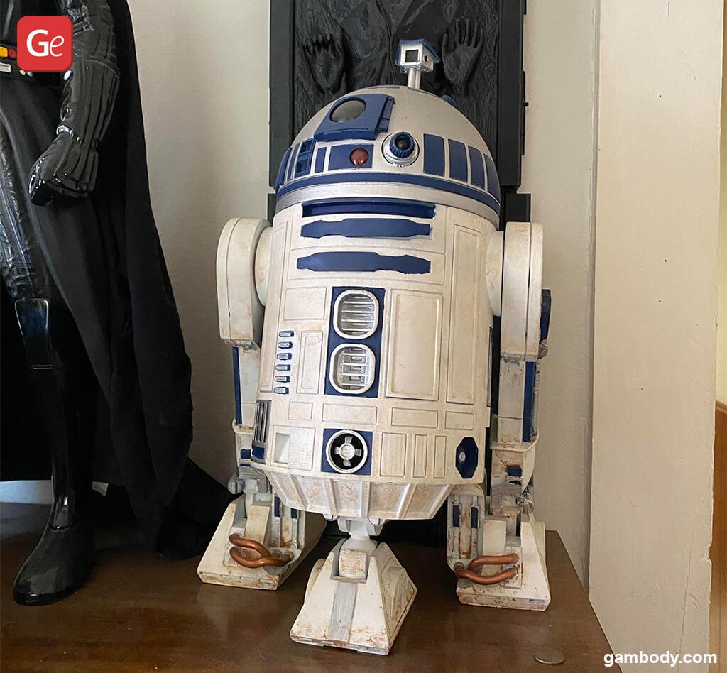 R2-D2 3D print droid model