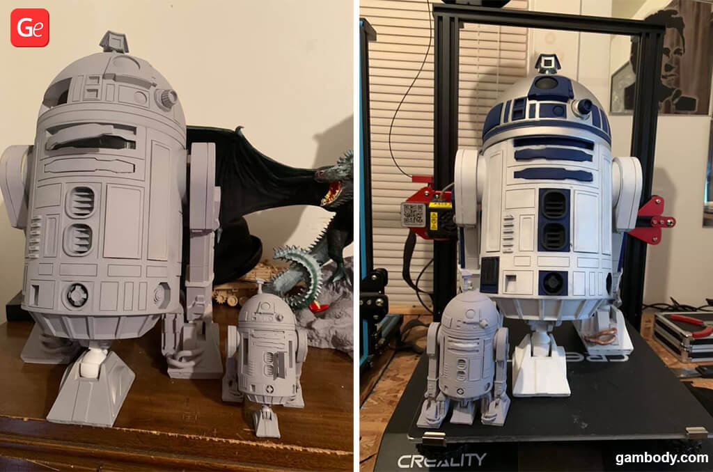 Star Wars R2-D2 models for 3D printing