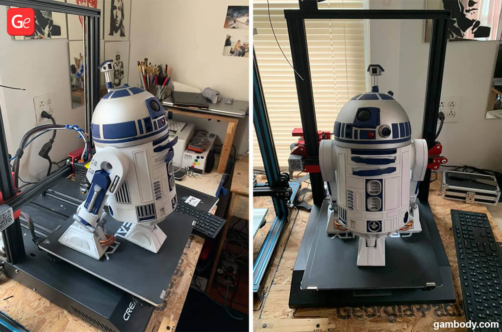R2-D2 droid model for 3D printing