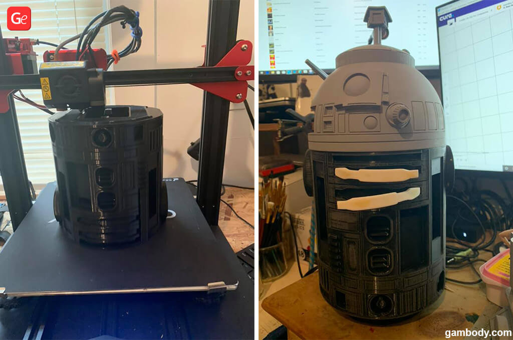 3D Printing of R2-D2 model from Star Wars