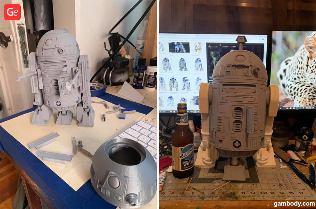 R2-D2 Star Wars models for 3D printing