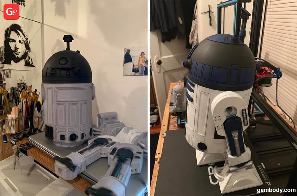 3D printing model R2-D2 Star Wars