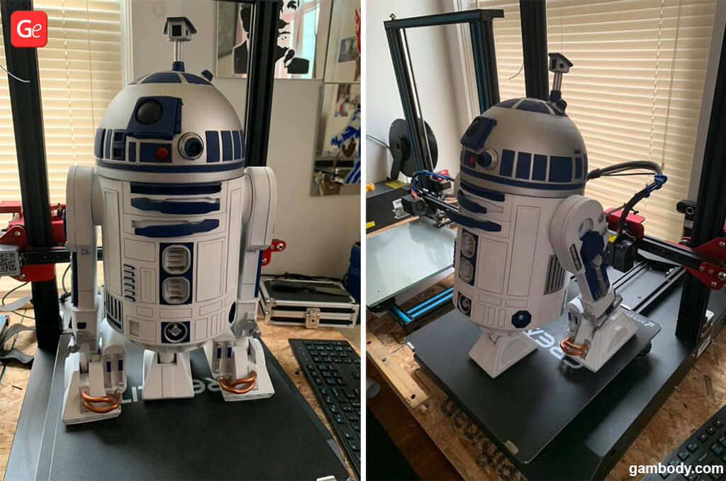 3D printed R2-D2 Star Wars model