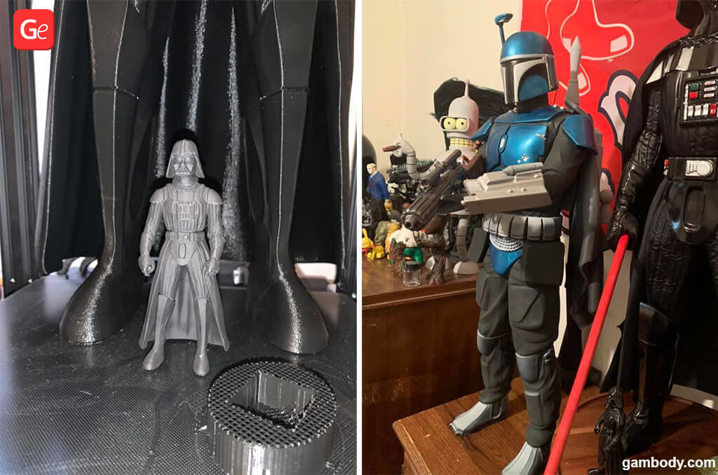 Star Wars 3D printing models Darth Vader and Boba Fett