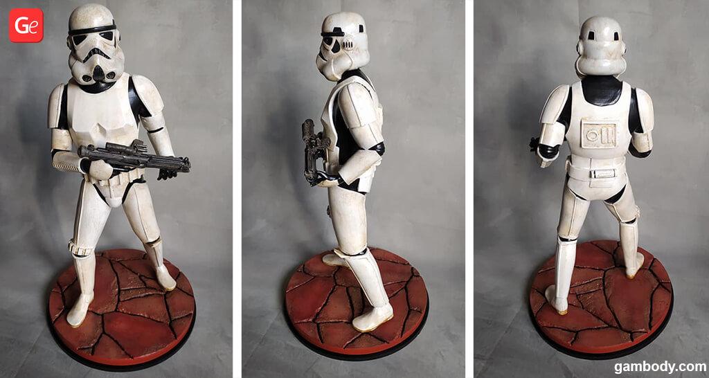 Stormtrooper 3D printed figure
