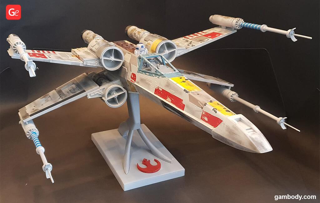 Mandalorian Season 2 X-wing fighter 3D printing models