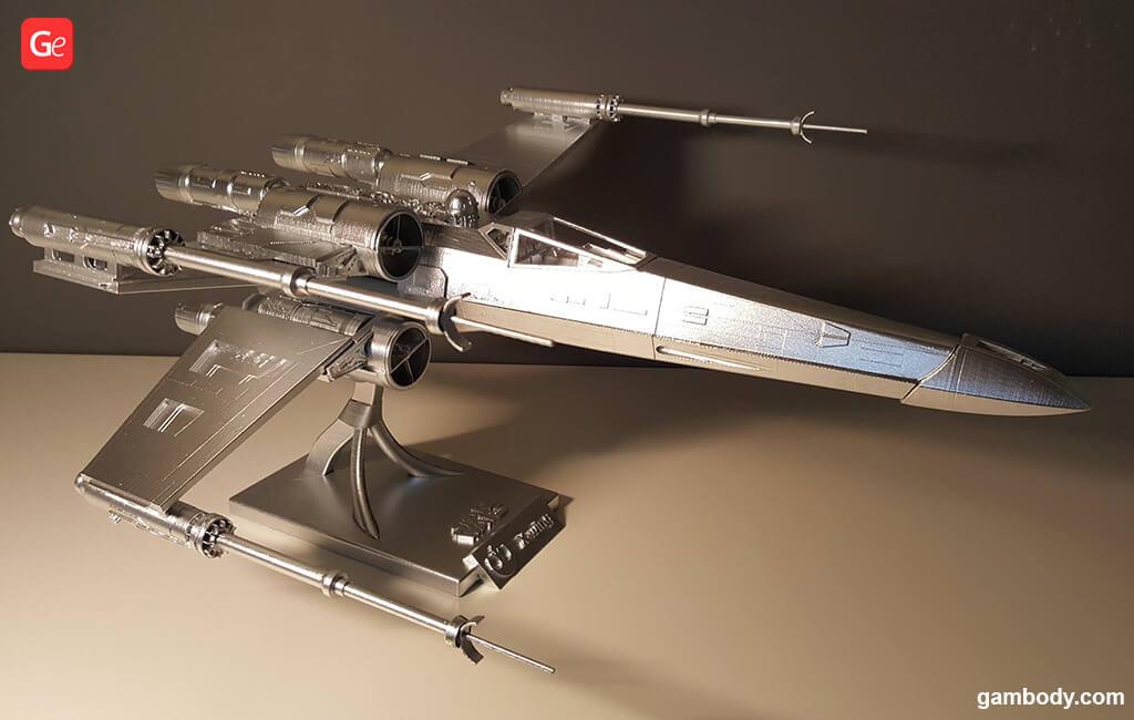 T-65B X-wing fighter Mandalorian 3D model Season 2