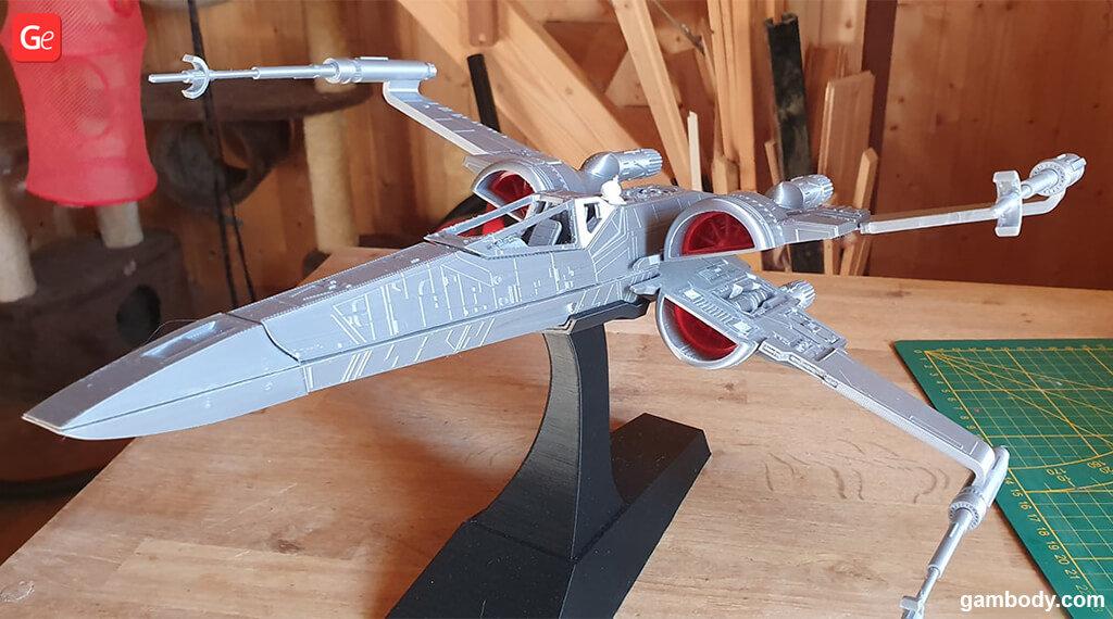 T-70 X-wing Fighter 3D printed model Mandalorian