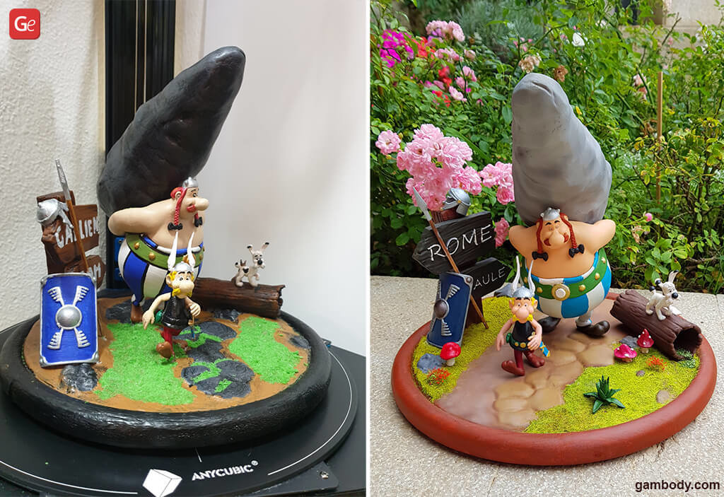 Asterix and Obelix 3D printing Christmas gifts