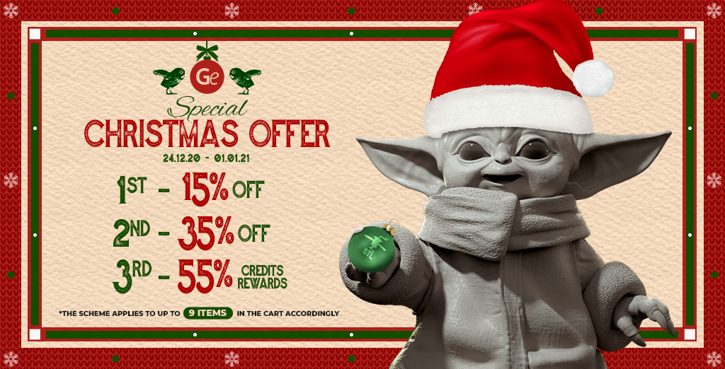 Special Christmas offer 2020 on Gambody 3D printing marketplace