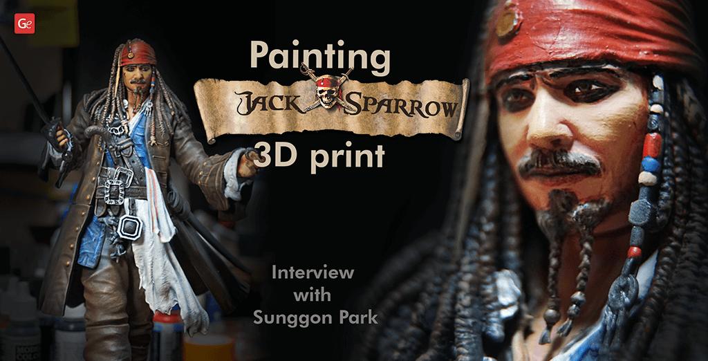Painting Captain Jack Sparrow 3D Print