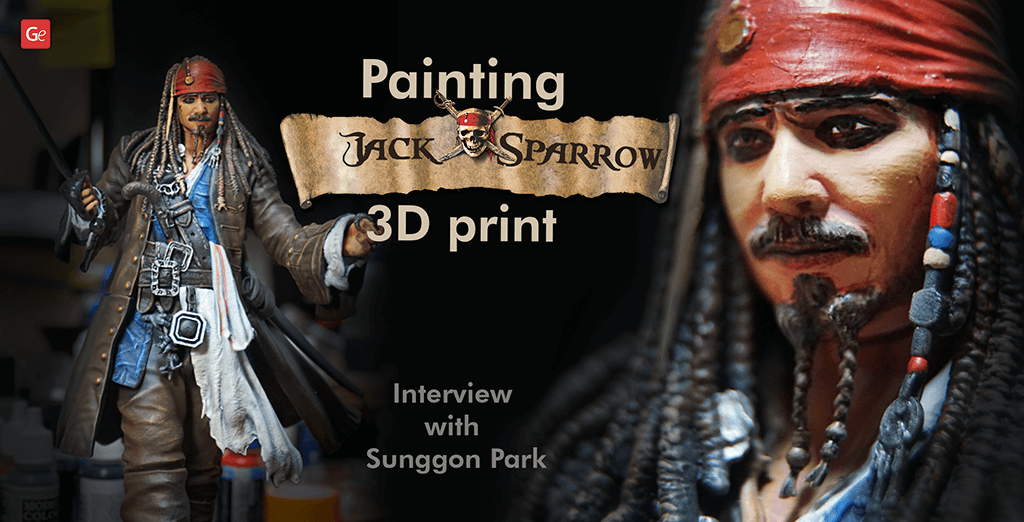 Legendary Captain Jack Sparrow 3D Print from Pirates of the Caribbean: Interview with Sunggon Park