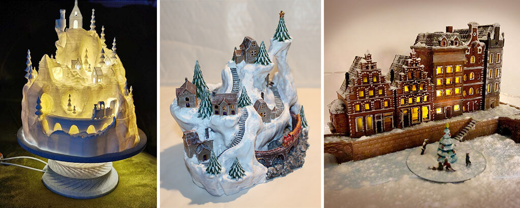 3D printing Christmas village